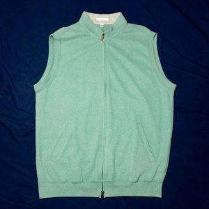 Peter Millar Full Zip Cotton Fleece Golf Vest